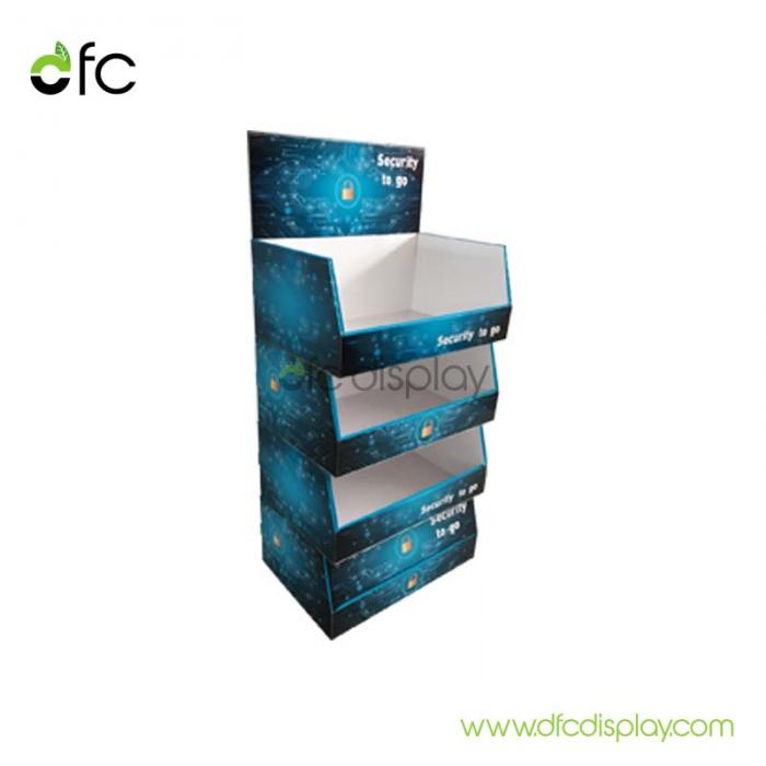 Corrugated board display stand